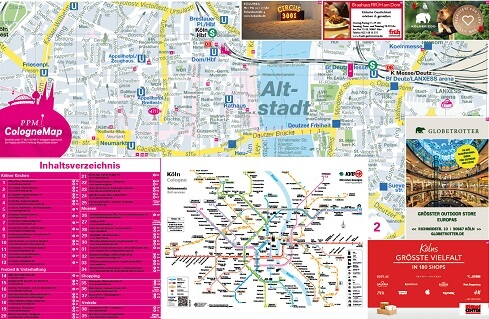 Touristen Werbung CologneMap